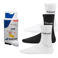 BABOLAT 3 PAIRS PACK WHITE/BLACK 45S1495