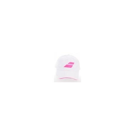 BABOLAT CAP WHITE/PINK 7389