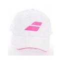 BABOLAT CAP ADULT WHITE/PINK 7389
