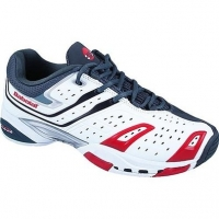 BABOLAT TEAM ALL COURT TENNIS WHITE/GREY/RED 30S900