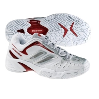BABOLAT TEAM LADY II TENNIS WHITE/GREY/RED S70101