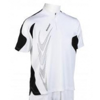 BABOLAT POLO HALF ZIP PERF 147 WHITE BLACK 40S906