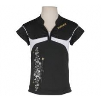 BABOLAT POLO PERF GIRL 145 BLACK WHITE 42F933